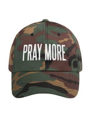 Pray More Dad Hat Camo