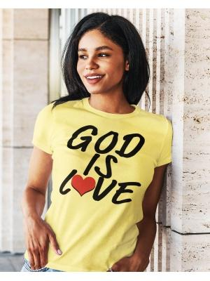God Is Love Logo Unisex Yellow Tee