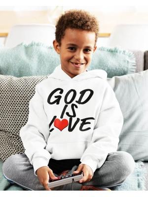 God Is Love Logo Youth White Hoodie